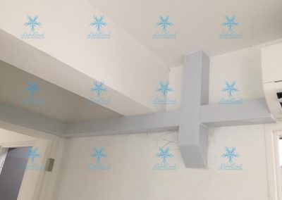 aircon installation with pipe fitting