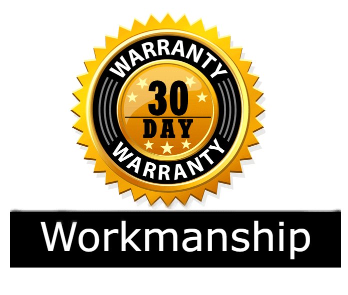 30 days workmanship