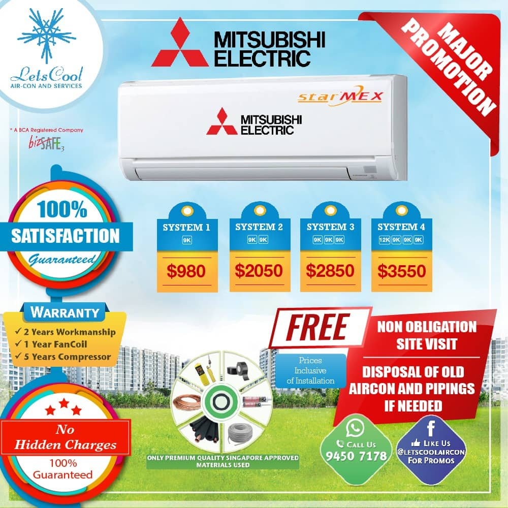 mitsubishi aircon promotion