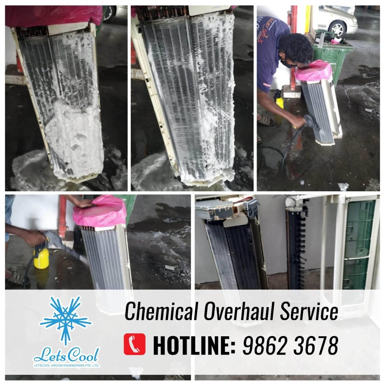 Aircon chemical overhaul service
