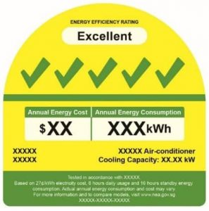 energy saving 5 ticks aircon