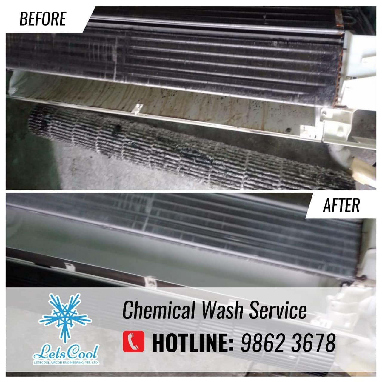 aircon chemical wash service
